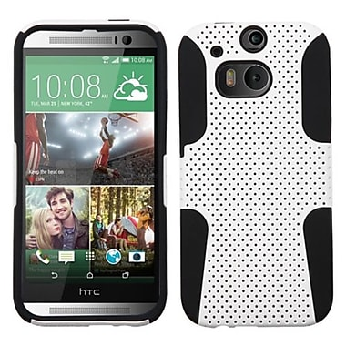 Insten Protector Case For HTC-One M8, White/Black Astronoot (1861056)