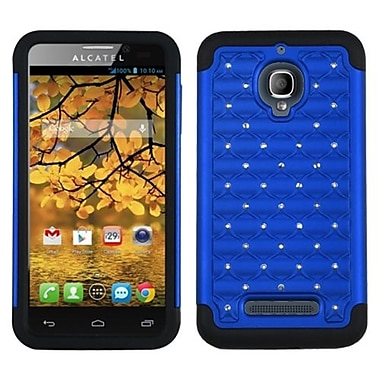 Insten® Luxurious Lattice Dazzling Protector Case For Alcatel 7024W, Dark Blue/Black