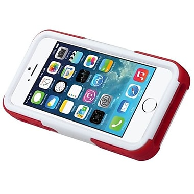 Insten® Goalkeeper Hybrid Protector Cover W/Stand F/iPhone 5/5S, White/Red