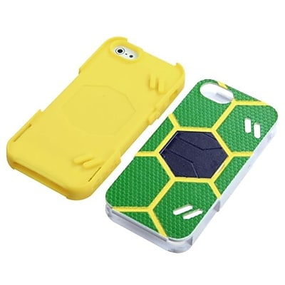 Insten® Goalkeeper Hybrid Protector Cover For iPhone 5/5S; Green/Yellow
