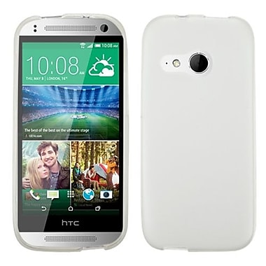 Insten® Candy Skin Cover For HTC-One M8 Mini, Semi Transparent White