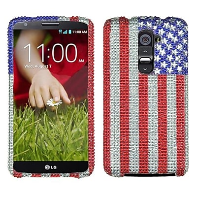 Insten® Protector Cover For LG D801 Optimus G2/LS980 G2/D800 G2, United States National Flag