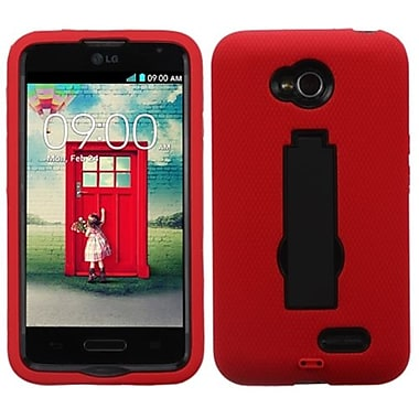 Insten® Symbiosis Stand Protector Cover For LG MS323/VS450PP, Black/Red