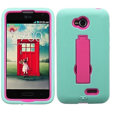 Insten® Symbiosis Stand Protector Cover For LG MS323/VS450PP, Hot-Pink/Sky Blue