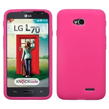 Insten® Skin Cover For LG MS323/VS450PP, Solid Hot-Pink