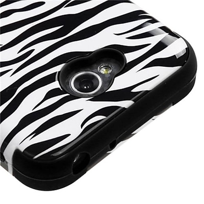 Insten® TUFF Hybrid Phone Protector Cover For LG MS323/VS450PP, Skin/Black Zebra