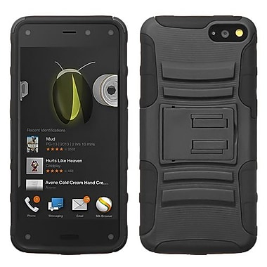 Insten® Advanced Armor Stand Protector Case For Amazon Fire, Black/Black