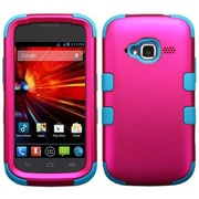 Insten® TUFF Hybrid Protector Cover For ZTE Z730, Titanium Solid Hot-Pink/Tropical Teal