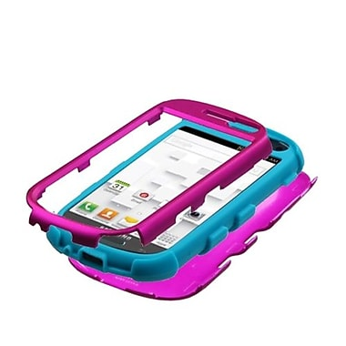 Insten® Hybrid Protector Case For Samsung T599 Galaxy Exhibit, Titanium Hot-Pink/Tropical Teal