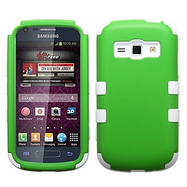 Insten® Rubberized TUFF Hybrid Phone Protector Case For Samsung M840, Dr Green/Solid White