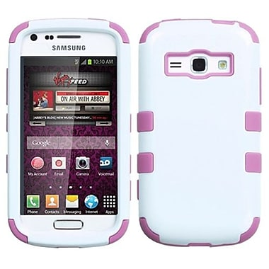 Insten® TUFF Hybrid Phone Protector Case For Samsung M840, Ivory White/Light Pink