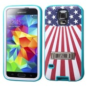 Insten® VERGE Protector Cover W/Stand F/Samsung Galaxy S5; Tropical Teal/United States National Flag