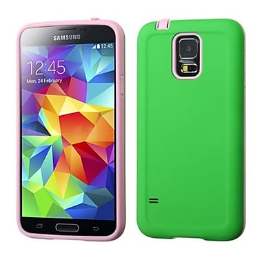 Insten® Advanced Armor Protector Case For Samsung Galaxy S5, Pearl Green/Baby Pink