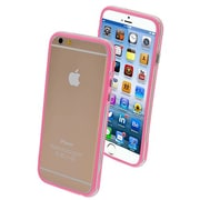 "Insten® MyBumper Phone Protector Cover F/4.7"" iPhone 6, Pink/Transparent Clear"