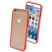 "Insten® MyBumper Phone Protector Cover F/4.7"" iPhone 6, Red/Transparent Clear"