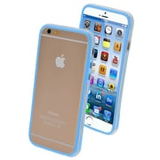 "Insten® MyBumper Phone Protector Cover F/4.7"" iPhone 6, Baby Blue/Transparent Clear"