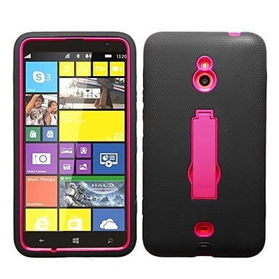 Insten® Symbiosis Stand Protector Case For Nokia Lumia 1320, Hot-Pink/Black