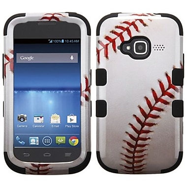 Insten® TUFF Hybrid Protector Cover For ZTE Z730 Concord II, Black Baseball