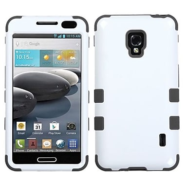 Insten® TUFF Hybrid Phone Protector Cover For LG D500 Optimus F6/MS500, Ivory White/Black