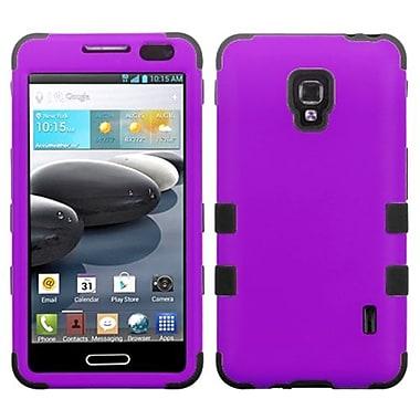 Insten® TUFF Hybrid Phone Protector Cover For LG D500 Optimus F6/MS500, Grape/Black