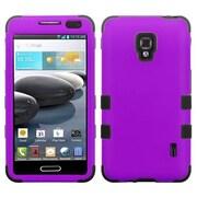 Insten® TUFF Hybrid Phone Protector Cover For LG D500 Optimus F6/MS500; Grape/Black