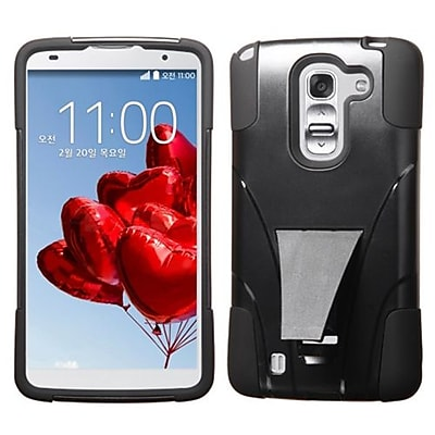Insten® Advanced Armor Stand Protector Cover For LG D838 G Pro 2; Black