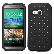 Insten® Protector Cover For HTC-One M8 Mini; Black/Black FullStar