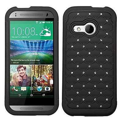 Insten® Protector Cover For HTC-One M8 Mini; Black/Black FullStar