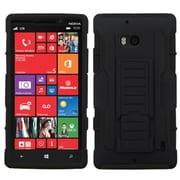 Insten® Rubberized Car Armor Stand Protector Case For Nokia Lumia Icon 929, Black/Black