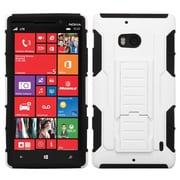 Insten® Rubberized Car Armor Stand Protector Case For Nokia Lumia Icon 929, White/Black