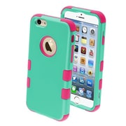 "Insten® TUFF Hybrid Rubberized Phone Protector Cover F/4.7"" iPhone 6, Teal Green/Electric Pink"
