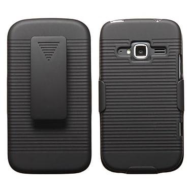 Insten® Hybrid Holster Case For ZTE Z730 Concord II, Black