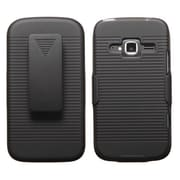 Insten® Hybrid Holster Case For ZTE Z730 Concord II, Black