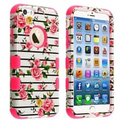 """Insten® TUFF Hybrid Phone Protector Cover F/4.7"""" iPhone 6, Pink Fresh Roses/Electric Pink"""