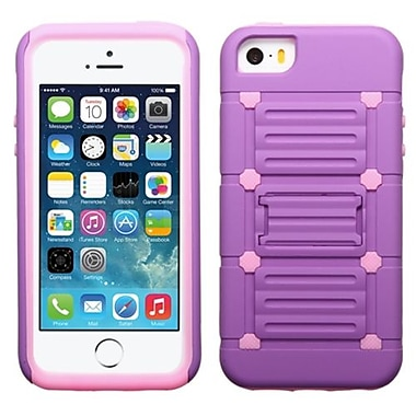 Insten® Protector Cover W/Advanced Armor Stand F/iPhone 5/5S, Purple/Electric Pink Raised Dot Cutout