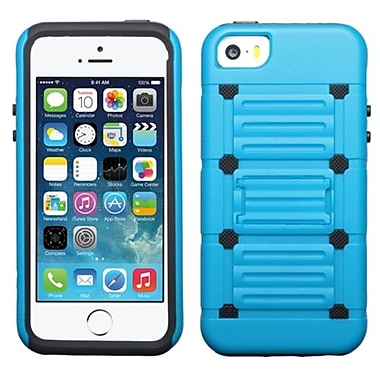 Insten® Protector Cover W/Advanced Armor Stand F/iPhone 5/5S, Blue/Black Raised Dots Cutout