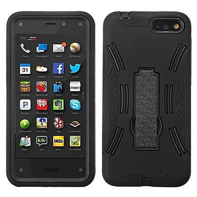 Insten® Symbiosis Stand Protector Case For Amazon Fire, Black/Black