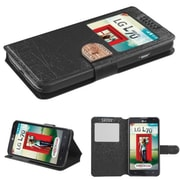 Insten® Book-Style MyJacket Wallets For LG MS323/VS450PP