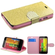 Insten® MyJacket For Motorola G, Gold Glittering