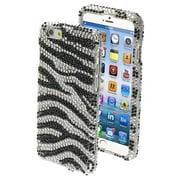 "Insten® Diamante Protector Cover F/4.7"" iPhone 6, Black Zebra Skin"