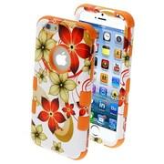 "Insten® TUFF Hybrid Phone Protector Cover F/4.7"" iPhone 6, Hibiscus Flower Romance/Orange"