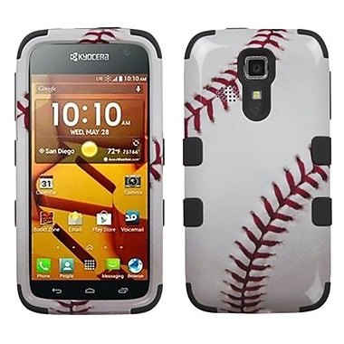 Insten® TUFF Hybrid Phone Protector Cover For Kyocera C6730/C6530, Baseball-Sports Collection/Black