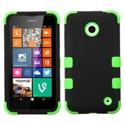 Insten® Rubberized TUFF Hybrid Phone Protector Covers For Nokia Lumia 630/635