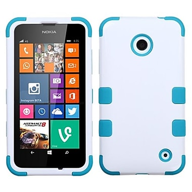 Insten® TUFF Hybrid Phone Protector Cover For Nokia Lumia 630/635, Ivory White/Tropical Teal