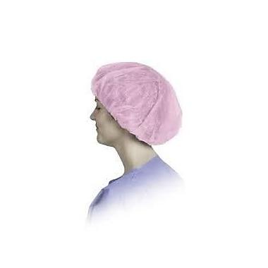 Keystone 110NWI-10-24-PBG-1BG Latex Free Polypropylene Pink Bouffant Cap, 24