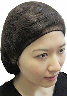 Keystone 109HPI-18-BK Latex Free Nylon Black Hair Net, 18
