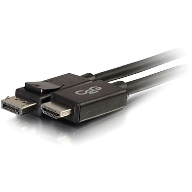 C2G 6Ft DisplayPort Male To HDMI Adapter Cable, Black (54326)