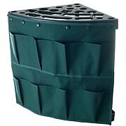 Stalwart Plastic Corner Storage Tool Rack Tower with Removable Storage Bag