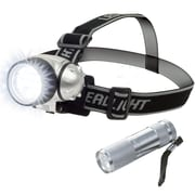 Stalwart LED Headlamp w/ LED Flashlight