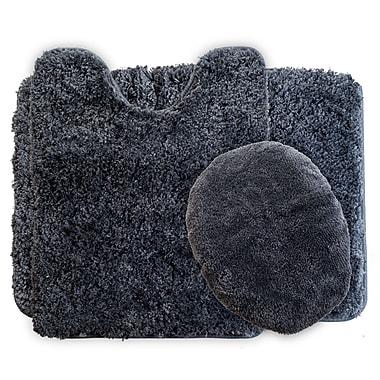 Lavish Home Bath Mat Rug Set, Polyester Fabric 24